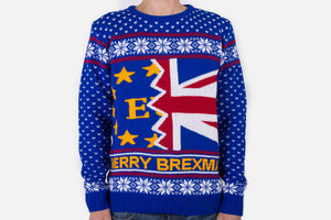 Leave: Brexit Knitted Christmas Jumper