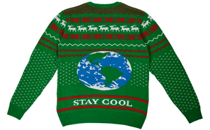 100% Recyled Attenbrrr: David Attenborough Knitted Christmas Jumper