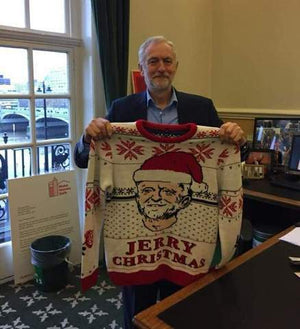 jeremy corbyn christmas jumper with jeremy