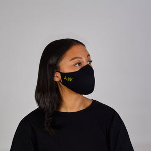 Custom Embroidered Face Mask: Initials
