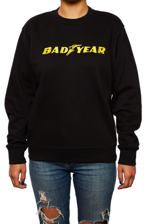 Bad Year Black Embroidered Jumper