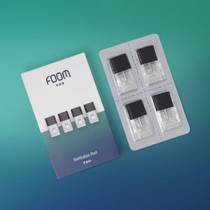 FOOM Starter Pack (Stick Device + 4 Refillable Pods+ E-liquid)