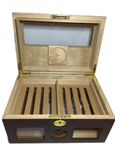Load image into Gallery viewer, Locking Wooden Cigar Box