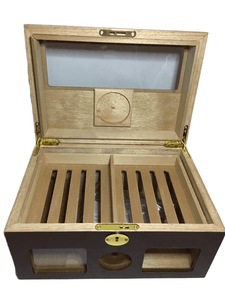 Locking Wooden Cigar Box