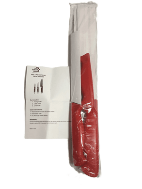 Red 3 PC Knife Set (005)
