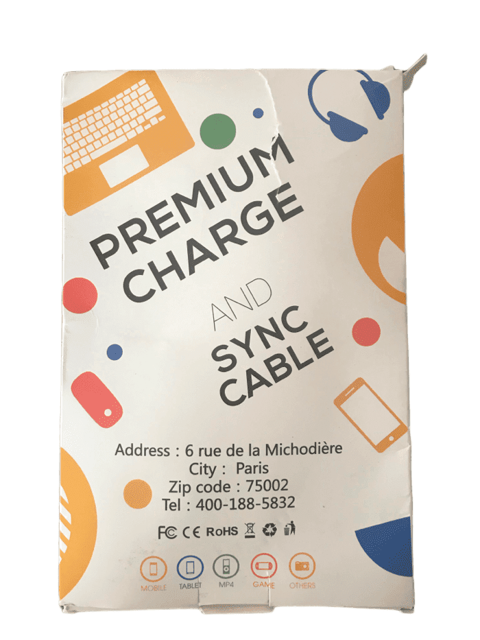 Premium Lightning Charge & Sync Cable 2PK (004)