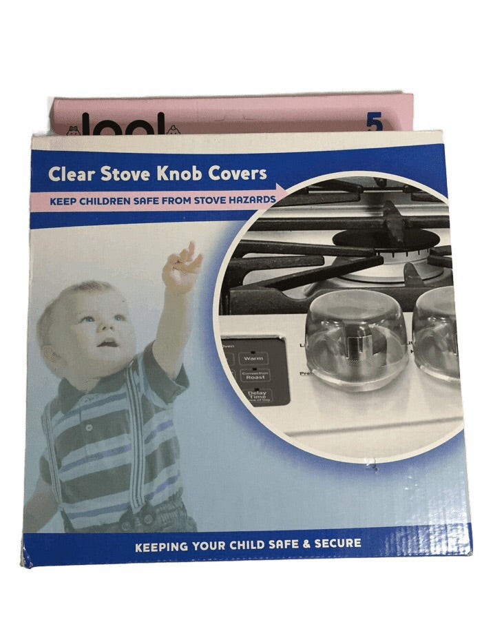Clear Stove Knob Covers (021)