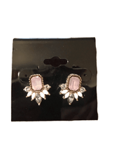 Load image into Gallery viewer, Pink Stone Earrings (023)
