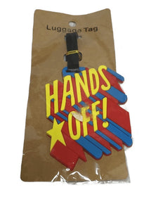 """Hands Off"" Luggage Tag (022)"