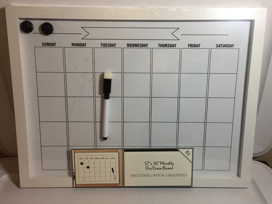 12x16in Monthly Dry Erase Board (016)