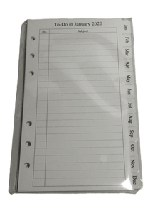 2020 Notebook Monthly Filler Paper (020)
