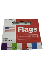"Load image into Gallery viewer, 12 4""x6"" USA Flags (023)"