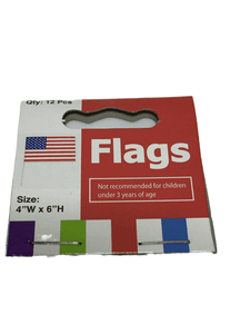 "12 4""x6"" USA Flags (023)"