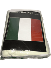 Load image into Gallery viewer, Italian Flag Blanket 50x60""