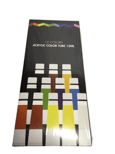 12 Acrylic Color Tube 12ML(008)