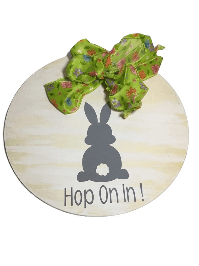 """Hop On In!"" Door Decoration (020)"