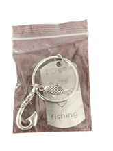 "Load image into Gallery viewer, ""I Love You More Than Fishing"" Keychain (028)"