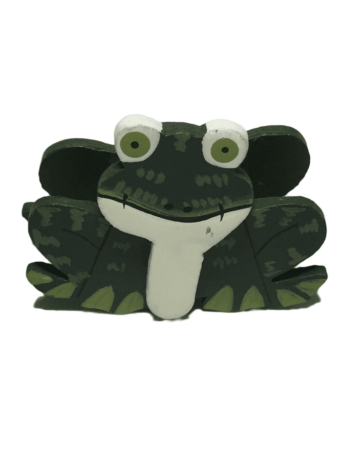 Decorative Wooden Frog