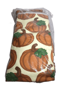 Pumpkin Patch Kitchen Towel & Dish Drying Mat Set (006)