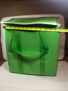 Reusable Insulated Grocery Bags - Green - x 2