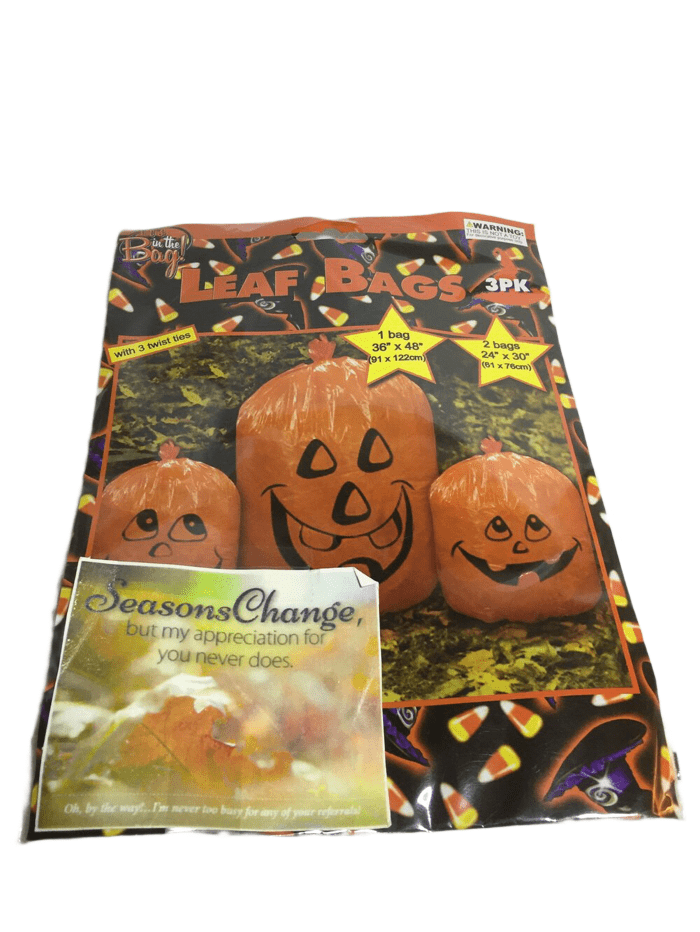 Pumpkin Leaf Bags - Set of 3 (023)