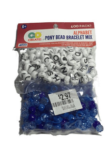 Alphabet Bracelet Bead Mix (020)