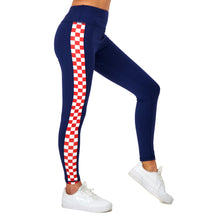 Load image into Gallery viewer, croatia checkered leggings