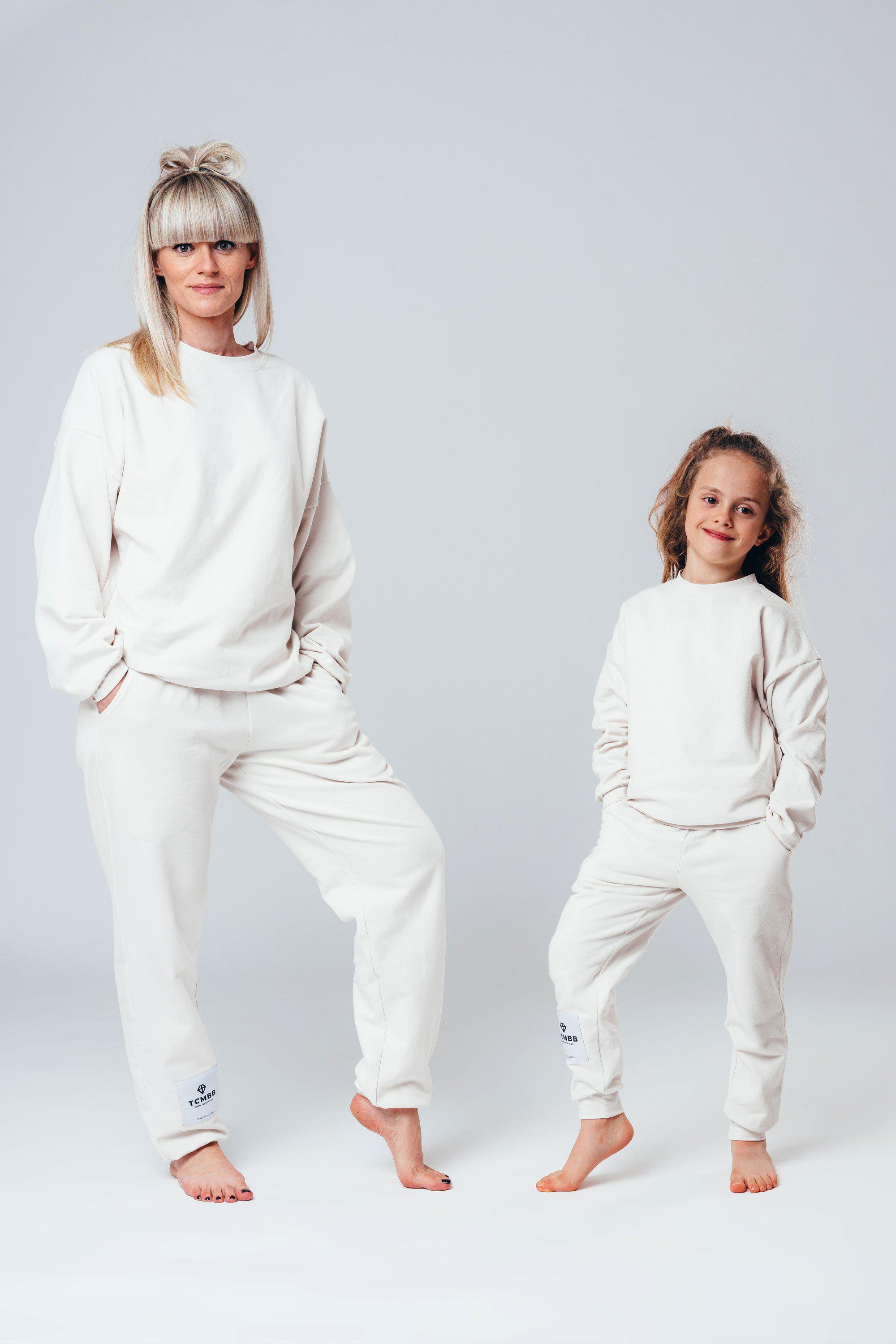 "Matching ""Me & Mini Me"" Jogger Set - Cream"