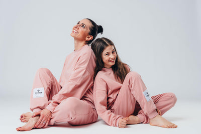 "Matching ""Me & Mini Me"" Full Tracksuits ( 4 piece set ) - Baby Pink"