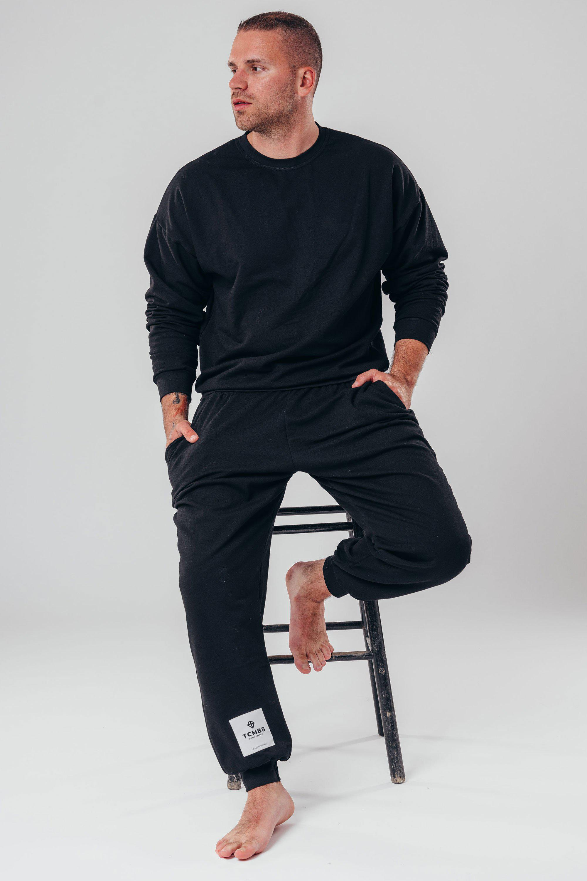 Men's Tracksuit Made From Organic Cotton - Black