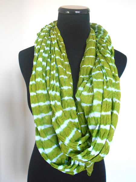 Leheriya Cotton Scarf- Green