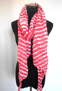 Leheriya Cotton Scarf- Salmon Pink