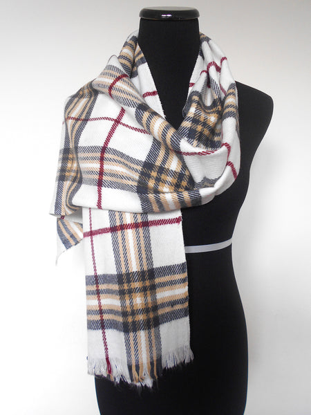 Muffler- White Plaid