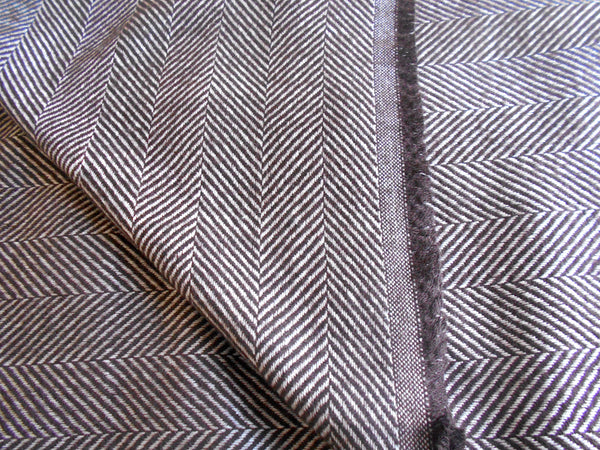 Muffler- Brown & White Herringbone