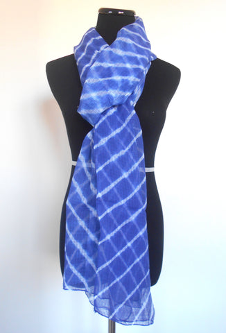 Leheriya Doria Scarf- Royal Blue