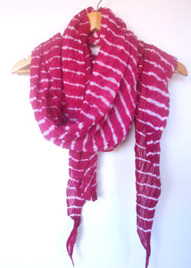 Leheriya Cotton Scarf- Pink