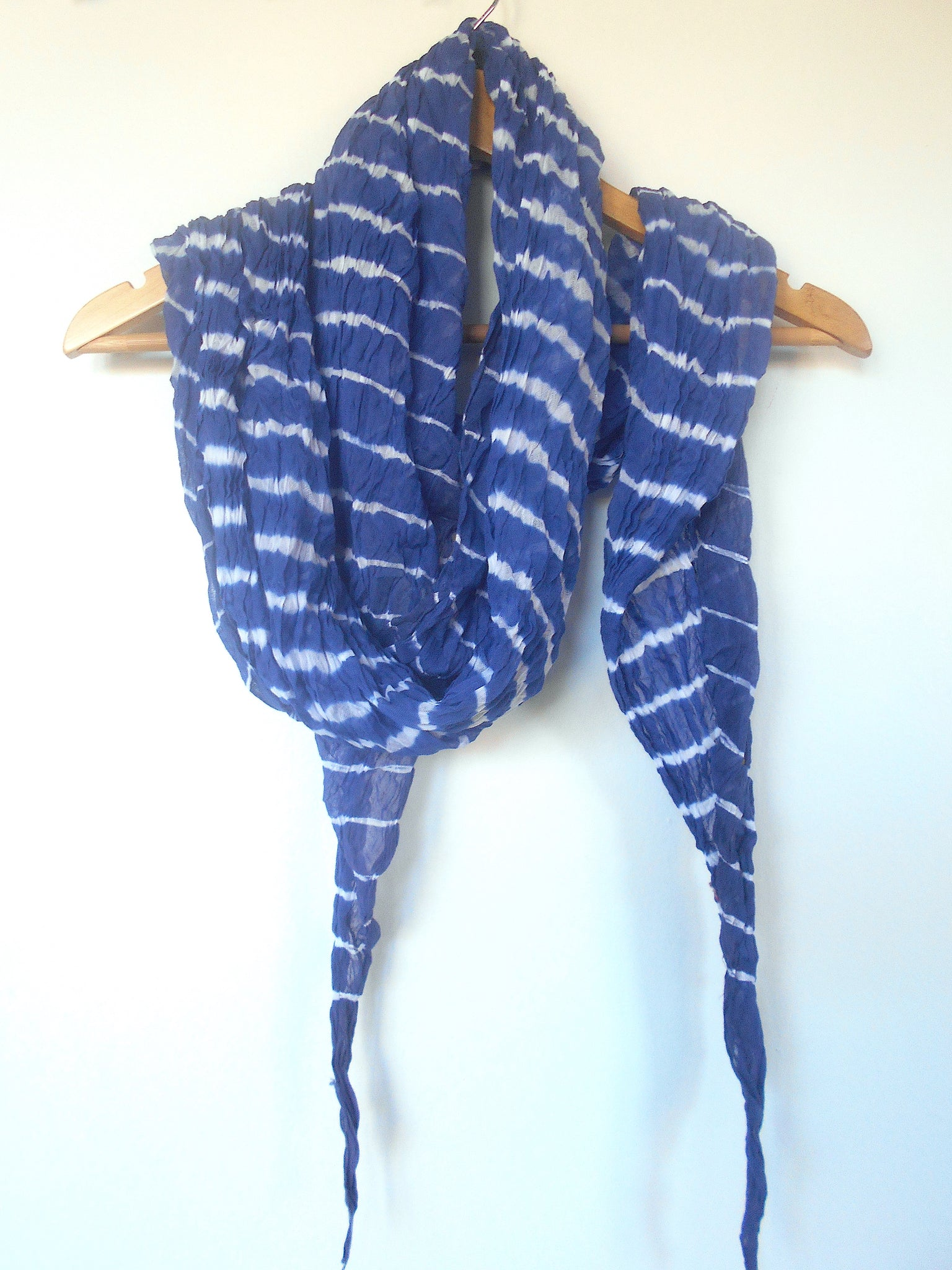Leheriya Cotton Scarf- Blue