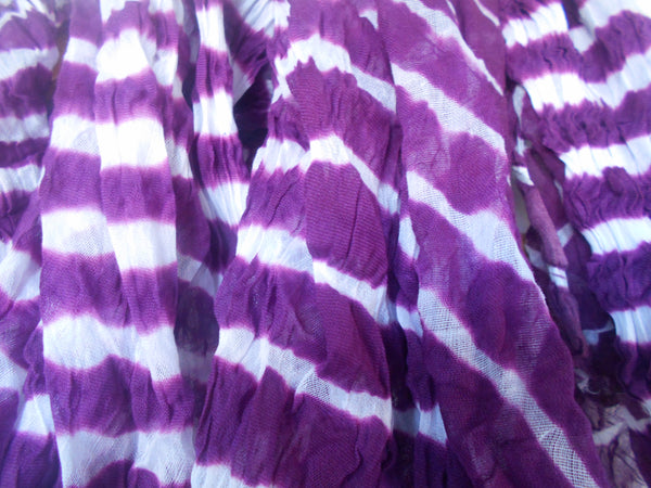 Leheriya Cotton Scarf- Purple