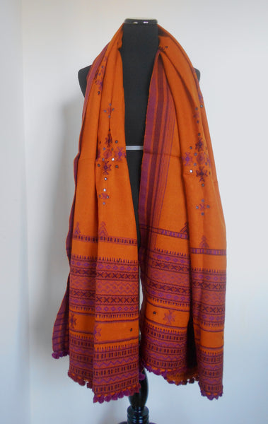 Kutchi Shawl- Turmeric Yellow