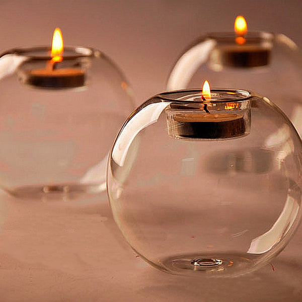 Table Glass Ball Candle Holder