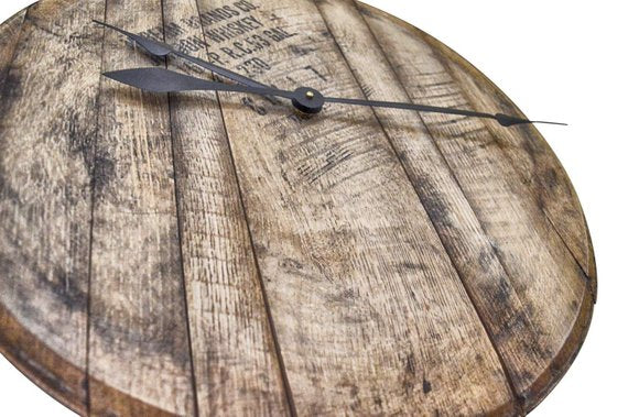 Bourbon Whiskey Barrel Clock - Royal  Holiday Shop