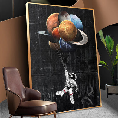 Classic Astronaut Wall Art On Canvas - Les Royal
