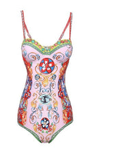 Load image into Gallery viewer, Festive Collection Floral Print Bohemian Bodysuit - Royal  Holiday Shop