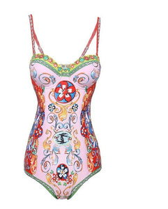 Festive Collection Floral Print Bohemian Bodysuit - Royal  Holiday Shop
