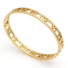 Load image into Gallery viewer, The Romans Numerals Pin & Horseshoe Gold Steel Bracelet Set - Royal  Holiday Shop
