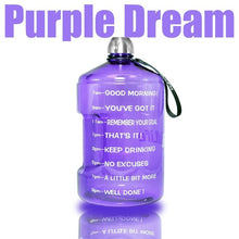Load image into Gallery viewer, New Big Quench Large Motivation Fitness Water Bottles - Les Royal