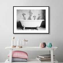 Load image into Gallery viewer, Baby Animal Bathtub Canvas Poster Art Decor - Les Royal