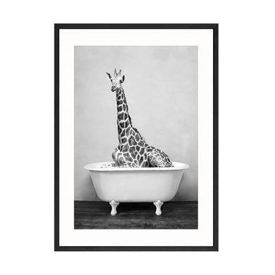 Baby Animal Bathtub Canvas Poster Art Decor - Les Royal