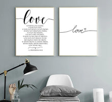 Load image into Gallery viewer, Love Scandinavian Style Black and White Canvas Wall Art - Royal  Holiday Shop
