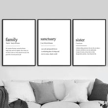 Load image into Gallery viewer, Home Friend Travel Love Definition Quotes Wall Canvas Prints - Les Royal